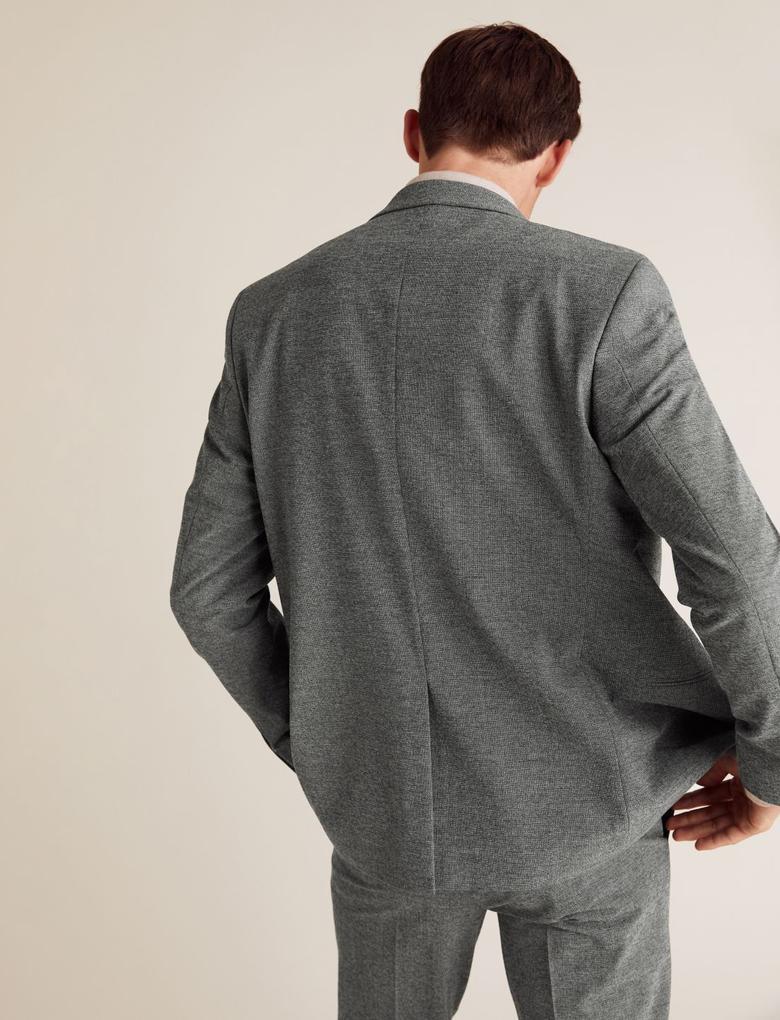 Erkek Gri Gri Slim Fit Ceket