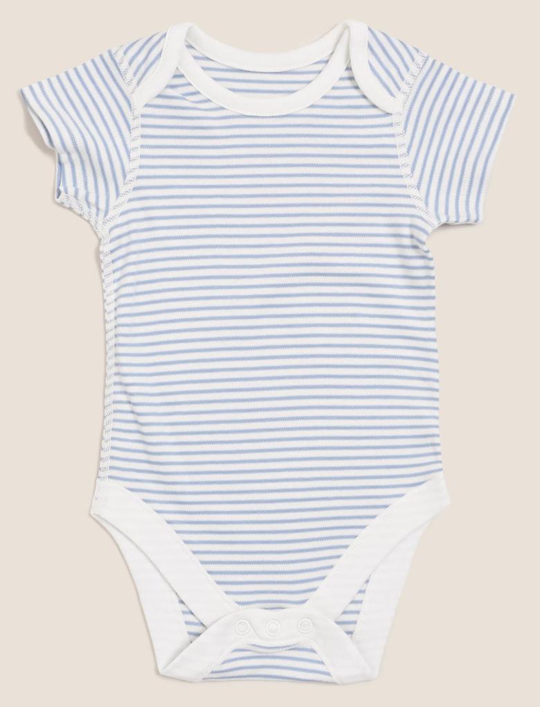 Bebek Mavi 7'li Saf Pamuklu Body