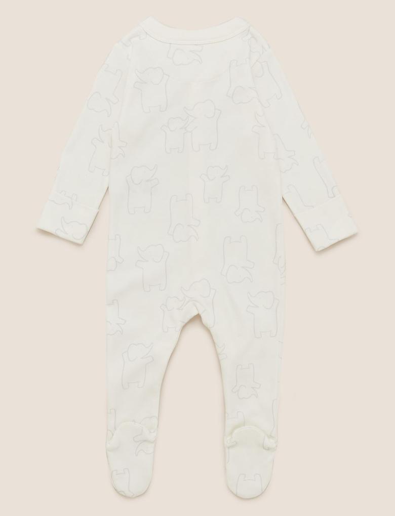 Bebek Gri 3'lü Organik Pamuklu Tulum Seti