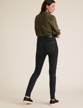 Kadın Siyah Şekillendirici Yüksek Bel Skinny Jean Pantolon