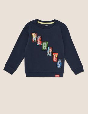 Erkek Çocuk Lacivert Marvel Heroes™ Sweatshirt