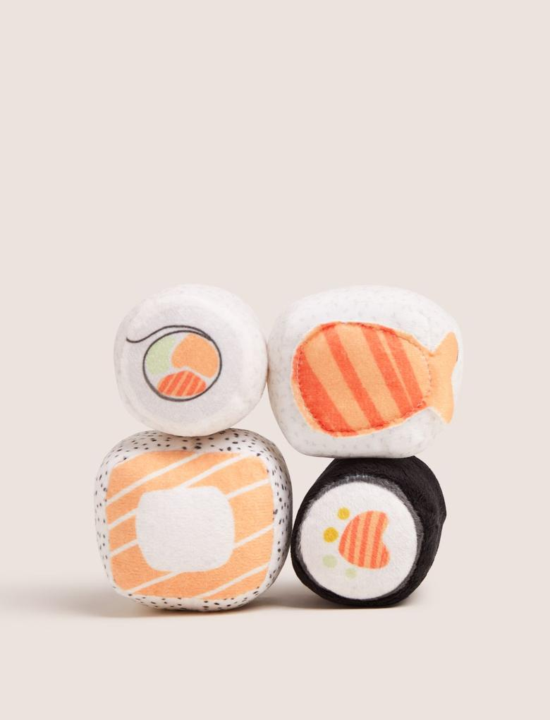 Multi Renk Sushi Baskılı Kedi Oyuncağı