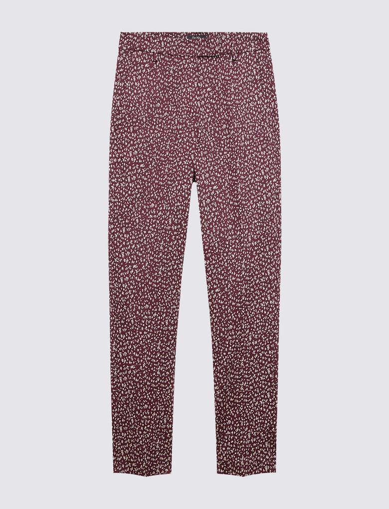 Kadın Mor Mia Desenli 7/8 Pantolon