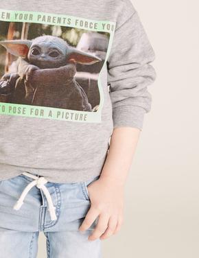 Erkek Çocuk Gri Star Wars™ Yoda Sweatshirt