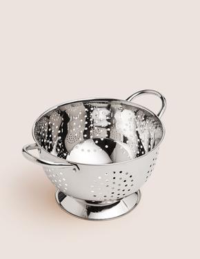 Ev Gümüş 22 cm Paslanmaz Çelik Süzgeç