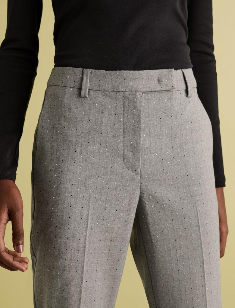 Kadın Gri Mia Slim Ankle Grazer Pantolon