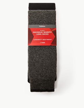 Erkek Gri 2'li Termal Çorap Seti