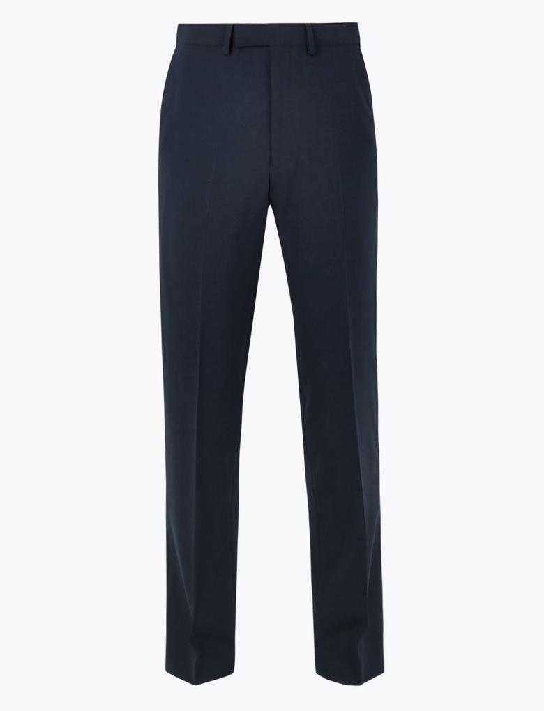 Erkek Lacivert The Ultimate Yün Karışımlı Regular Fit Pantolon