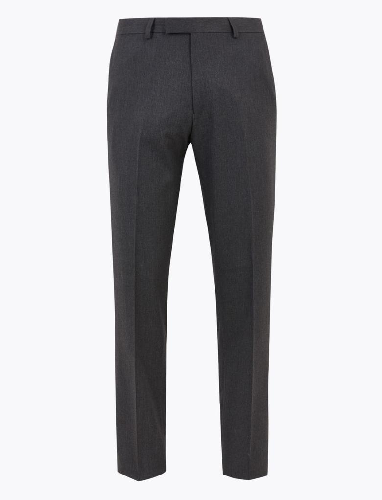 Erkek Gri Regular Fit Pantolon