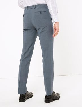 Erkek Mavi The Ultimate Yün Karışımlı Tailored Fit Pantolon