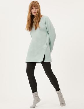 Kadın Yeşil Uzun Kollu Tunik Sweatshirt