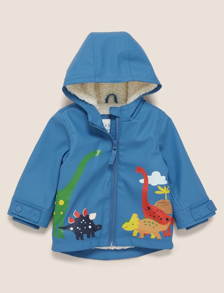 Bebek Mavi Suni Kürk Astarlı Balıkçı Montu(Stormwear™ Teknolojisi ile)