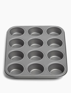 Ev Gümüş 12'li Muffin Kalıbı