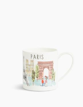 Ev Multi Renk Paris Baskılı Kupa