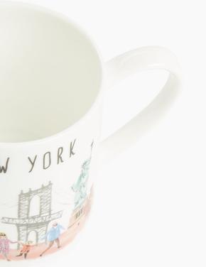 Ev Multi Renk New York Baskılı Kupa
