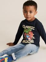 Erkek Çocuk Lacivert Saf Pamuklu Marvel™  Bluz