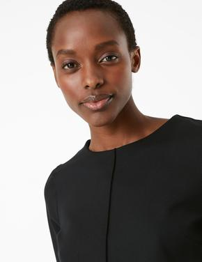 Kadın Siyah Kısa Kollu Bluz