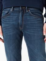 Erkek Mavi Vintage Slim Fit Jean Pantolon