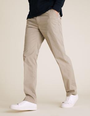 Erkek Krem Pamuklu Chino Pantolon