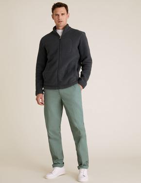 Erkek Yeşil Active Waist™ Pamuklu Chino Pantolon