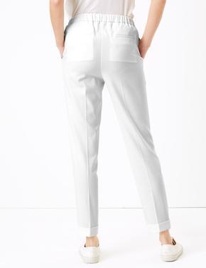 Kadın Beyaz Tapered Grazer Pantolon
