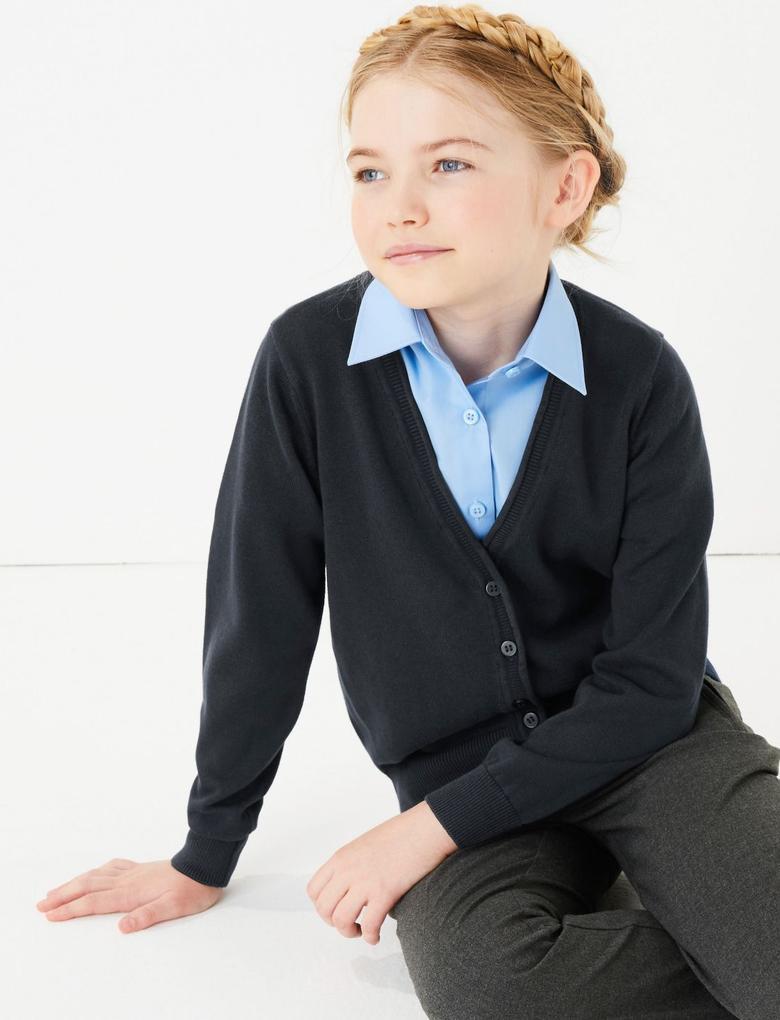 Çocuk Lacivert 2'li Pamuklu Hırka Seti