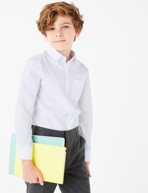 Çocuk Beyaz Ütü Gerektirmeyen Okul Gömleği