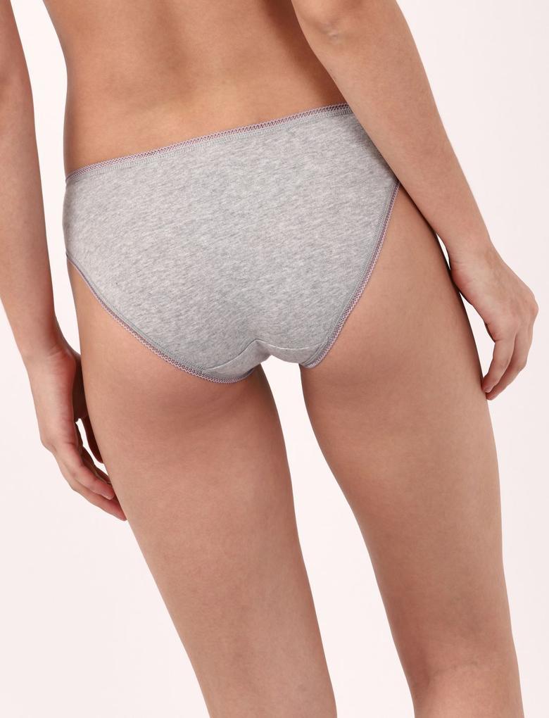 Kadın Bej 5'li Bikini Külot Seti