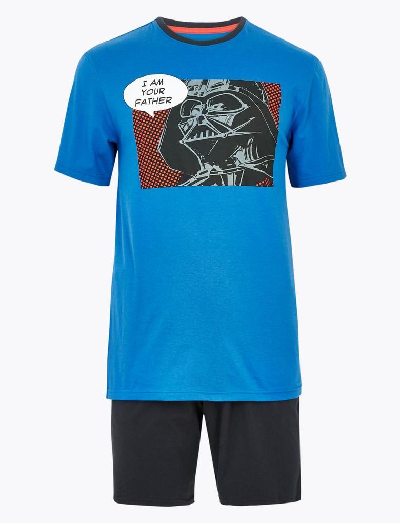 Erkek Mavi Star Wars™ Baskılı Pijama Takımı