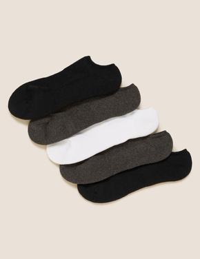 Kadın Siyah 5'li Spor Çorabı Seti