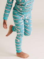 Çocuk Yeşil Timsah Desenli Pijama Takımı