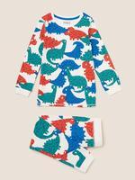 Çocuk Multi Renk Dinozor Desenli Pijama Takımı