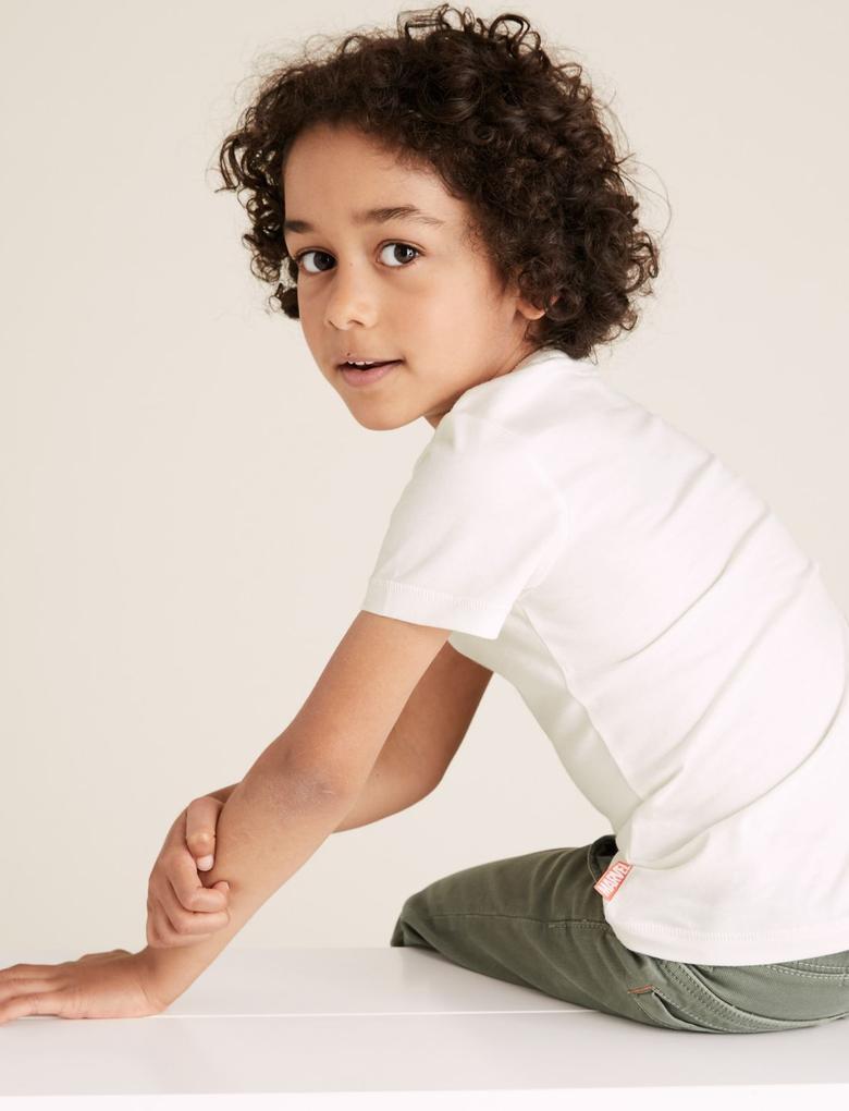 Erkek Çocuk Beyaz Marvel Avengers™ T-Shirt