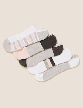 Kadın Gri 5'li Spor Çorabı Seti