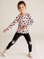Kız Çocuk Multi Renk 3'lü Leopar Desenli Tayt Seti