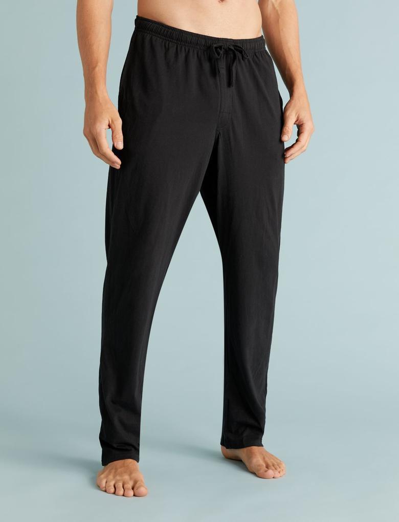 Erkek Gri Çizgili Pijama Takımı Seti