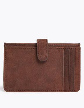 Erkek Kahverengi Cardsafe™ Deri Kartlık
