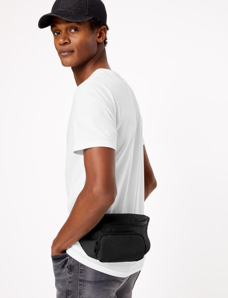 Erkek Siyah Pro-Tect™ Bel Çantası
