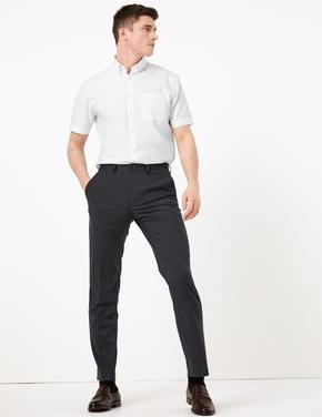Erkek Beyaz Kolay Ütülenebilir Kısa Kollu Gömlek