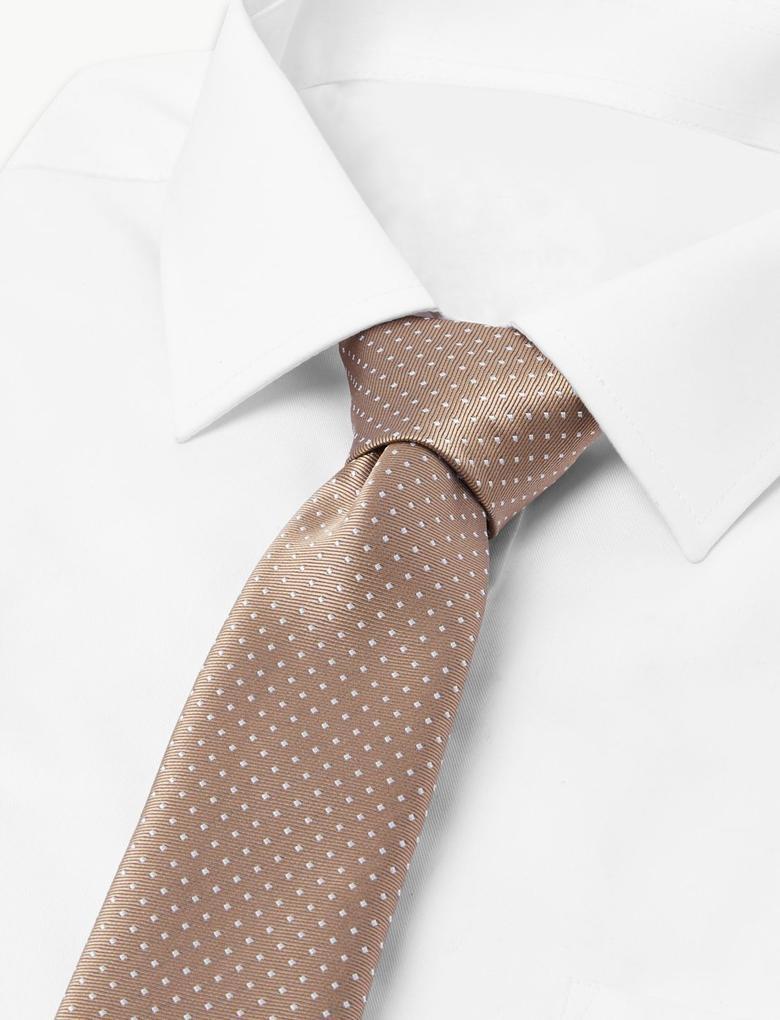 Erkek Renksiz Puantiyeli Kravat
