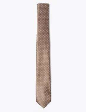 Renksiz Puantiyeli Kravat