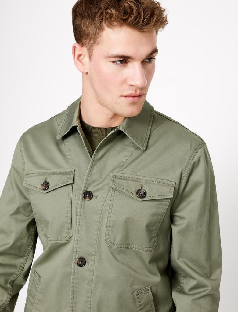 Yeşil Regular Fit Ceket