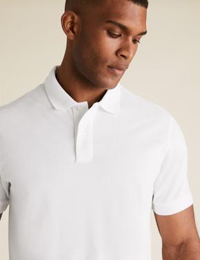 Beyaz 2'li Polo Yaka T-Shirt Seti