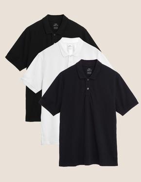 Lacivert 3'lü Polo Yaka T-Shirt Seti
