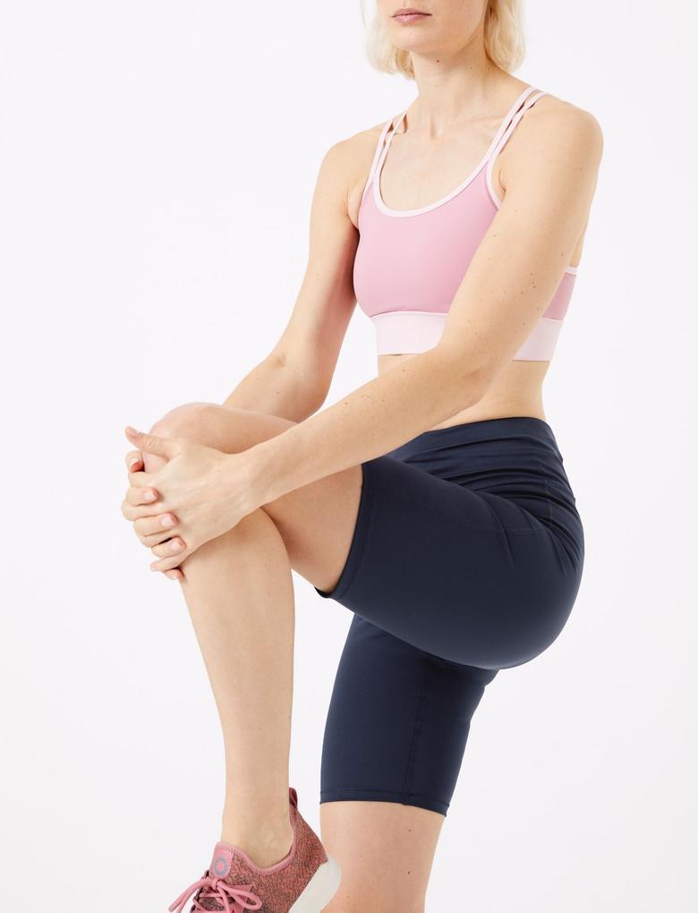 Kadın Lacivert Go Move Kısa Spor Taytı