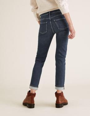 Kadın Lacivert Slim Fit Jean Pantolon