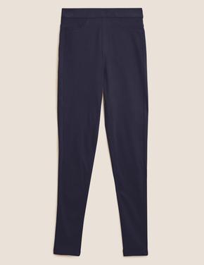 Kadın Lacivert Yüksek Belli Jegging Pantolon