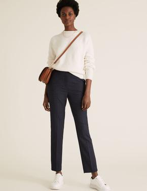 Kadın Lacivert Mia Slim Ankle Grazer Pantolon