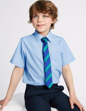 Çocuk Mavi 2'li Ütü Gerektirmeyen Gömlek