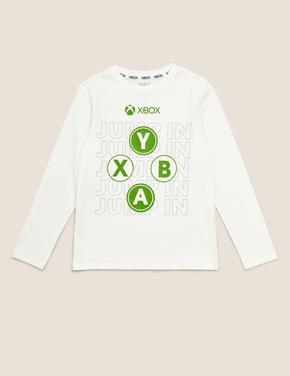 Erkek Çocuk Multi Renk Saf Pamuklu Xbox™ Bluz
